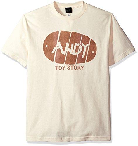 Disney Herren Toy Story Andy Boot Graphic T-Shirt Hemd, cremefarben, X-Groß