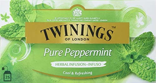 Twinings Pure Peppermint, 25 Beutel x 2g, 50g, 12er Pack (12 x 50 g)