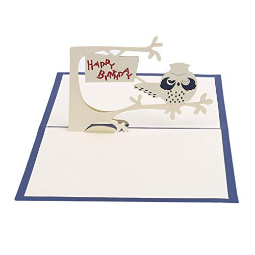 Kingus 3D Pop Up Papierkarte Grüße Geburtstag Karte Geschenk Dekoration Geburtstagskarte Pop Up Wunschkarten, Festival Gedenken