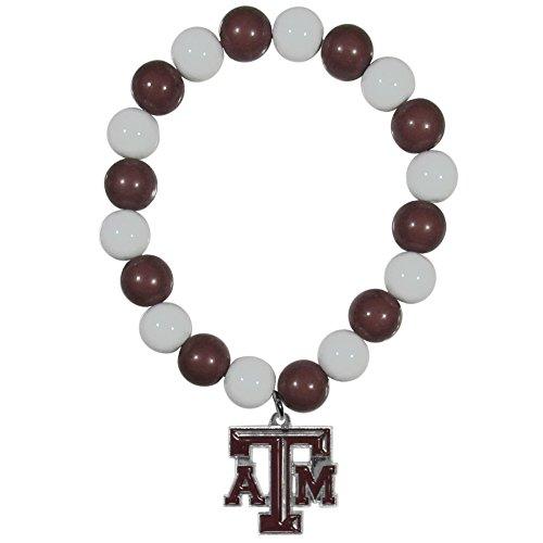 NCAA Texas A & M Aggies Fan Bead Stretch Armband -