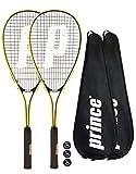 2 x Prince Power Rebel Ti Squash Rackets + Covers + 3 Squash Balls