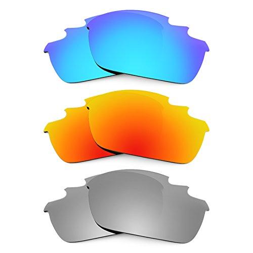 Revant Ersatzlinsen für Oakley Flak Jacket Vented Asian Fit Polarisiert 3 Paar Kombipack K014