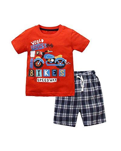Niño Camisetas Manga Corta Pantalones Cortos 2pcs