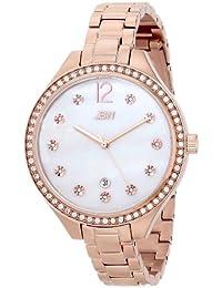 JBW  J6289D - Reloj de cuarzo para mujer, con correa de acero inoxidable chapado, color 0