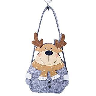 Weihnachten Süßigkeiten Tasche Weihnachtsmann/Schneemann / Rentier Fühlte Vlies Applique Haus Sternform Party Kid Tote Geschenk Beutel Korb Tragbar