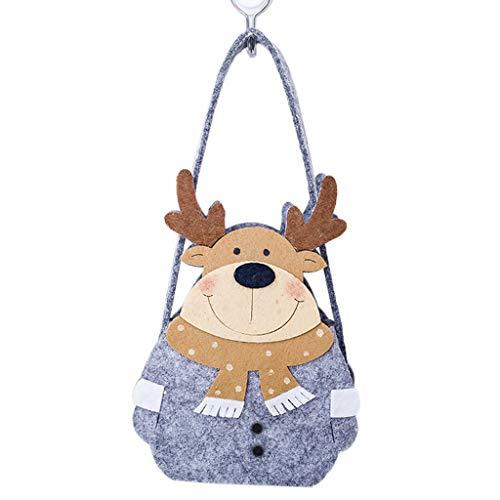 Weihnachten Süßigkeiten Tasche Weihnachtsmann/Schneemann / Rentier Fühlte Vlies Applique Haus Sternform Party Kid Tote Geschenk Beutel Korb Tragbar (Für Halloween Geschenk-körbe)