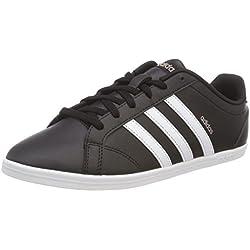 adidas Coneo Qt, Zapatillas de Gimnasia para Mujer, Negro (Core Black/FTWR White/Vapour Grey Met.F16), 39 1/3 EU