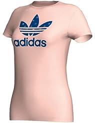 adidas Originals trefoil - Camiseta de tiempo libre y sportwear para mujer