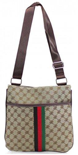 f9f9af055565 Designer Check Checkered Monogram Unisex Man Bag Saddle Cross Body  Messenger Record Bag Travel Pouch (
