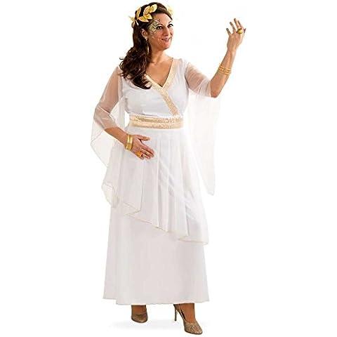 Fritz Fries & Söhne Gmbh & Co - Traje griega athena gr. 42- 48 vestido de carnaval romano, blanco, antiguo (48)