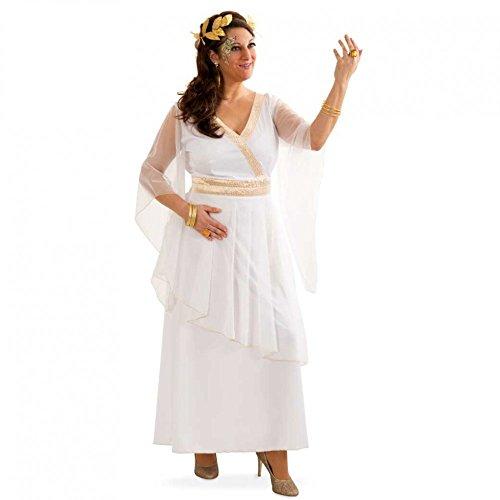 Kostüm Griechin Athena Gr. 42- 48 Kleid weiß Antike Fasching Römerin (Schmuck Kostüm Mythologie)
