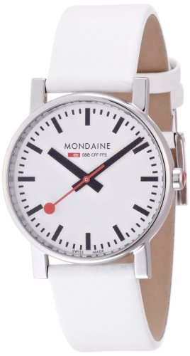mondaine-evo-35mm-mens-quartz-watch-with-white-dial-analogue-display-and-white-leather-strap-a658303