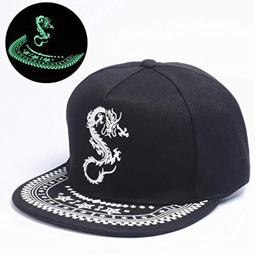 WUSYO Fluorescent Baseball Caps Caps Hats Im Dunkeln leuchten einstellbar, E - Neue Baseball-hüte ära