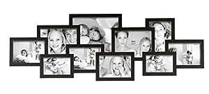 Deknudt Frames S65SL2 Cadre Multi-Photos 10 Ouvertures - Noir - 107 x 40,5 x 2,5 cm