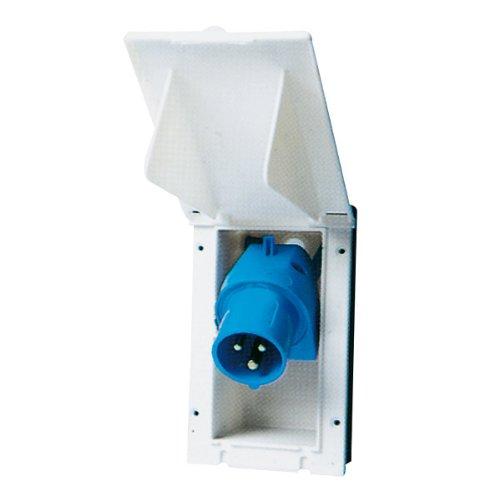 HABA CEE-Einspeisstecker für das Wohnmobil mit Deckel und Schwenkkupplung