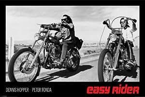 Affiche 'Easy Rider, film avec P. Fonda et D. Hopper, 1969', Taille: 91 x 61 cm