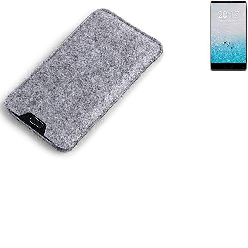 K-S-Trade Filz Schutz Hülle für Ulefone F1 Schutzhülle Filztasche Filz Tasche Case Sleeve Handyhülle Filzhülle grau
