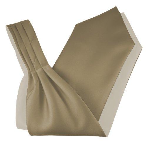 Great British Tie Club Herren Satin Ascot Krawatte - Verschiedene Farben (Champagner)