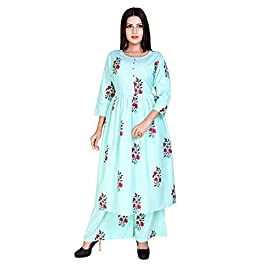 Marlin Women's Cotton Kurti With Palazzo Pant Set