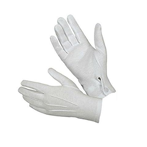 Sannysis 1pair Männer Weiß Formale Handschuhe Tuxedo Ehrengarde Handschuhe