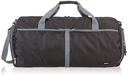 AmazonBasics - Bolsa de viaje y deporte de lona plegable, 59 cm, 64 litros