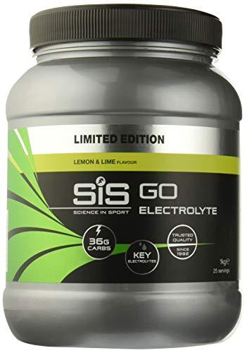 Science in sport sis go electrolyte polvere, sport drink con sali elettroliti e carboidrati, gusto limone e lime, 1kg