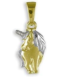 Colgante para mujer o niños, unicornio, oro 333 de 8 quilates. Oro amarillo