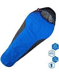 yahill® 3temporada al aire libre Viajes momia saco de dormir, + 32grado F, impermeable ligero transpirable y cómodo, para deporte, aventura, Camping, Senderismo, azul