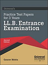 Practice Test Papers for 3 years LL.B. Entrance Examination