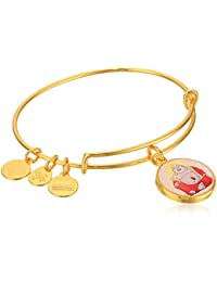 Alex and Ani Saints and Sages, Laughing Buddha Expandable Charm Bracelet, Shiny Gold-Tone