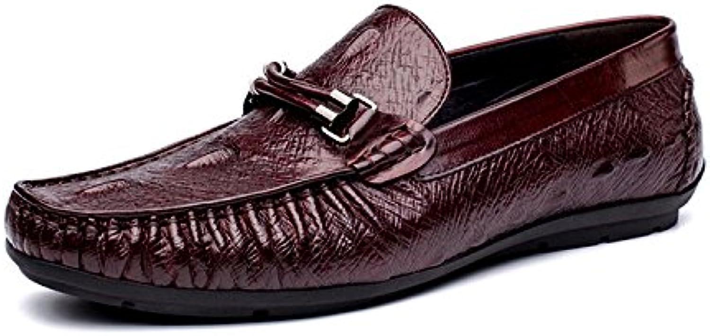 LYZGF Herren Gentleman Business Casual Fashion Faul Krokodil Lederschuhe