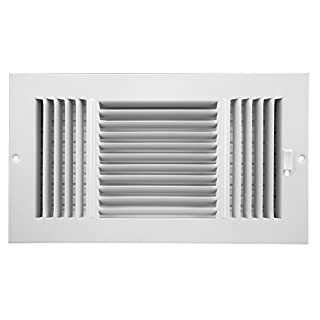 Accord ABSWWH3126 Sidewall/Ceiling Register with 3-Way Design, 12-Inch x 6-Inch(Duct Opening Measurements), White