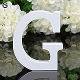 Danigrefinb, Grande Lettera dell'alfabeto in Legno da Appendere alla Parete, per Matrimoni, Feste, casa, Negozio, Decorazione per la casa, Random Color, G