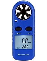 KKmoon Jauge de Vent Vitesse Anémomètre Multifonctions LCD Mini Air Velocity Mesure Echelle Beaufort Affichage de la Température