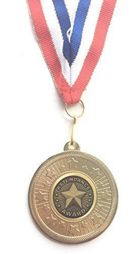 emblems-gifts Teilnahme Auszeichnung goldfarbene 50 mm Medaille mit Band