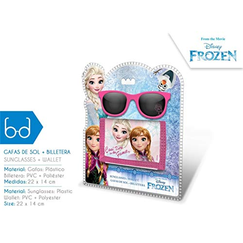 Disney Frozen-WD17765 Set Gafas y Billetera, Kids WD17765