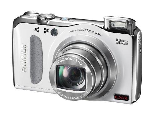 Fujifilm FINEPIX F500EXR Digitalkamera (16 Megapixel, 15-fach opt. Zoom, 7,6 cm (3 Zoll) Display, bildstabilisiert) weiß