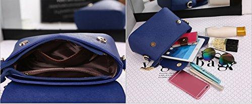 Pacchetto piccolo delle signore, sacchetto di spalla selvatico coreano di modo semplice, zaino obliquo, mini sacchetto di aria ( Colore : Blu zaffiro , dimensioni : 25*10*17cm ) Vino rosso