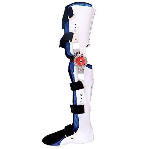 BAILUSX Knie-Gelenk-Feste Klammer-Bein-Bruch-Rehabilitations-Schutzausrüstung, Knie-Knöchel-Fuß-Orthesen,Rightleg,M -