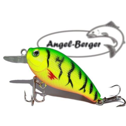 Fat Crank 3D Wobbler Fire Tiger Angel Berger Hardbait