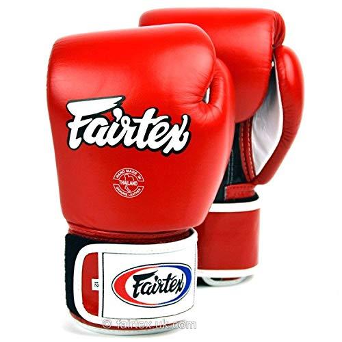 Fairtex Guantoni Tone Rossi 10 oz per Muay Thai Kick Boxing Boxe