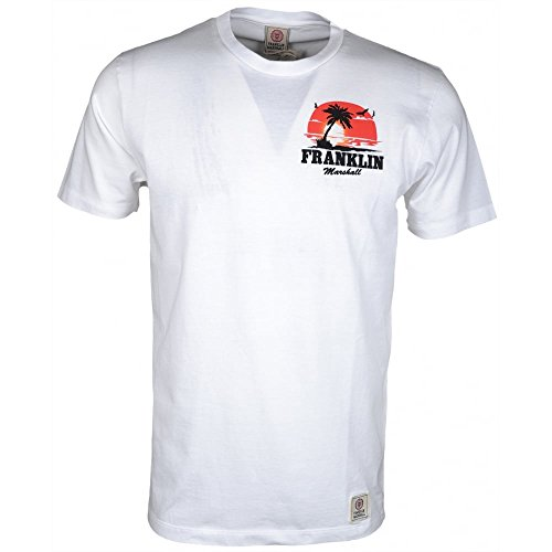 Franklin-Marshall-276AN-Jersey-Round-Neck-White-T-Shirt