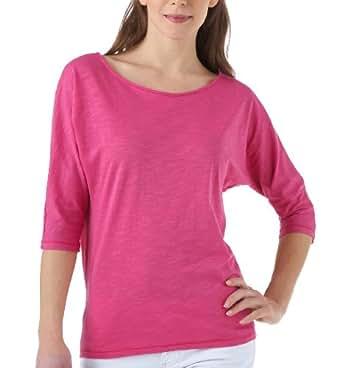 Promod T-shirt chauve-souris Rose fluo 1