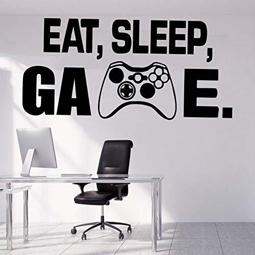 Gamer Wanddekor Playstation Controller Wandtattoo Eat Sleep Game Decor Video Spiel Vinyl Aufkleber Kinder Schlafzimmer Aufkleber 57 * 115cm