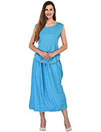 Patrorna Blended Women s Vest Tops and Skirt in Sky Blue Polka Print (Size  XS- 5c2c4e526c39