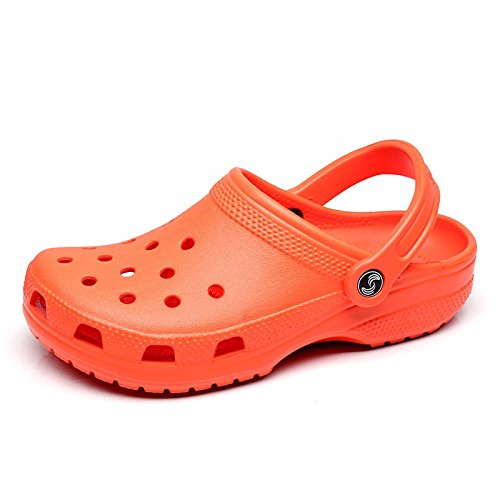 Sommer neuen Jungen europäischen römischen Loch Schuhe Casual Sandalen dicken unteren Sport Strand Schuhe Garten weichen Boden Sandalen Outdoor Schuhe Männer,Orange US=10,UK=9.5,EU=44,CN=46