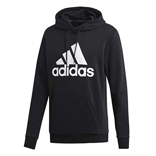 French Terry Hooded Jacket (adidas Herren Must Have Badge of Sport French Terry Hooded Sweatshirt Kapuzenpullover schwarz/weiß Medium)
