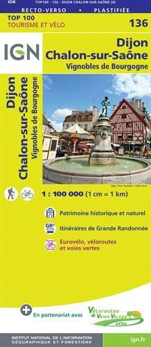 Dijon Chalon-sur-Saôme 1 : 100 000: Vignobles de Bourgogne
