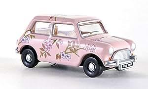 Mini Cooper, rose, voiture miniature, Miniature déjà montée, Oxford 1:76
