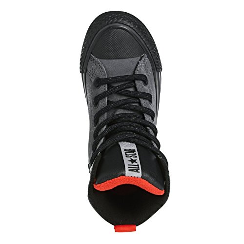 Converse Chuck Taylor All Star Weatherized Asphalt Junior Parchment Leather Ankle Boots Thunder/Red/Black